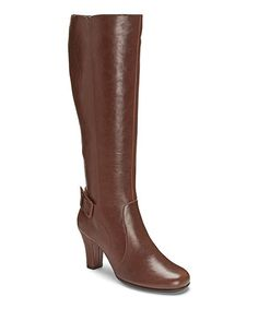 Loving this Brown Money Role Wide-Calf Boot on #zulily! #zulilyfinds