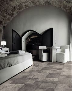 SER Sorrento 16x16-8x16-8x8 Modular Pattern in Ardoise #porcelaintile #plank #stunning #modular #durable #upgrade #bathroomtile #kitchentile #floortile #remodel #contemporary #modern #sleek