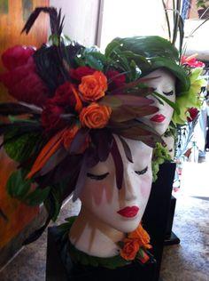Floral Hat centerpieces.