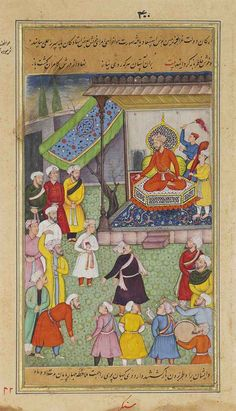 The Son of Sultan Murad I is brought before Timur