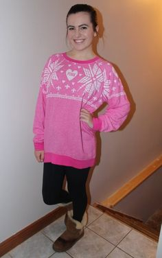 Cute Victoria's Secret pink sweater, my new favourite