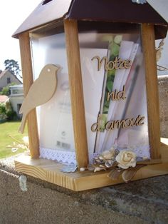 1000 images about urne pour mariage on pinterest mariage birdcage card holders and voyage. Black Bedroom Furniture Sets. Home Design Ideas