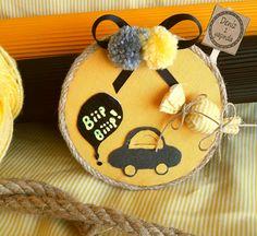 Arabalı Bebek Magneti - Doğumgünü ve Babyshower - Baby Shower Crafts, Diy And Crafts, Magnets, Wall Decor, Gifts, Color, Design, Pop Tabs, Tin Cans