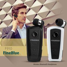 Retractable Fineblue F910 Bluetooth Headset Earphone for iPhone 6 Samsung HTC LG | eBay