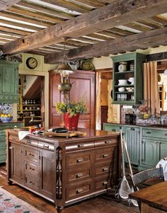 Reclaimed lumber, salvaged stone, and antique hardware make a new house feel like an 1890s homestead.