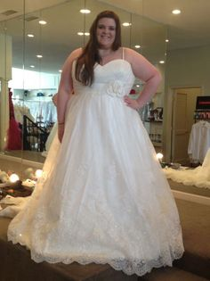 One of the more popular cuts for a plus size bride is an empire waist.  It accentuates the bust line while also allowing the bottom portion of the dress to be free and moving. Modified a-line style s like this work well on fuller figured #brides who want to hide their hips. Our firm can produce a dress like this for you with any changes. For more info on custom #plussizeweddingdresses or even for #replicas of couture gowns go to www.dariuscordell.com