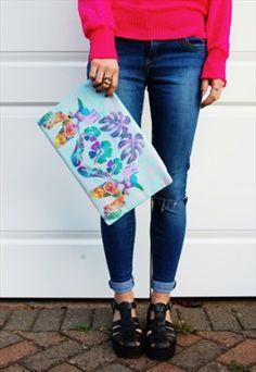 Tropical Clutch Bag
