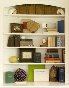 White Bookshelves Styling w Kate Jackson