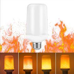 LED Flame Effect Fire Light Bulbs for Decoration Lighting on Christmas