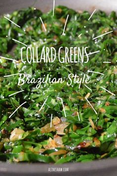 Brazilian Style Collard Greens | Side Dish | Brazilian Recipes | Easy Recipes | Vegan Recipes | Brazilian Food | Authentic Brazilian