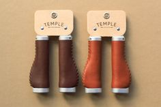Premium Leather Bicycle Grips Ergonomic - Temple Cycles - Quality cycling parts and accessories