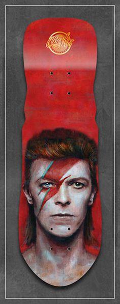 Image of David Bowie Alladin Sane art