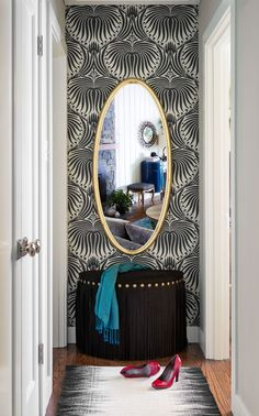 Marin Rancher | Suzanne Childress Love Farrow and Ball lotus wallpaper!