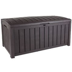 Keter glenwood garden #storage deck box #bench - #plastic - brown - 390l,  View more on the LINK: 	http://www.zeppy.io/product/gb/2/400999156594/