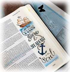 Diana Nguyen, illustrated faith, Bible Journaling, Hebrews, anchor