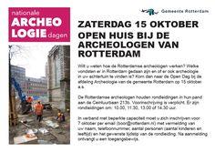 Nationale archeologiedagen, rondleiding in Rotterdam bij de Ceintuurbaan 213b