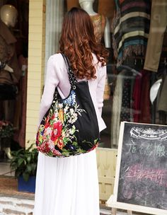Summer Vintage Floral Cotton Hobo