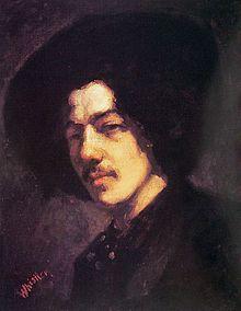 James Abbott McNeill Whistler, Portrait of Whistler with Hat, 1858