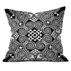 DENY Designs Budi Kwan Decographic Black Outdoor Throw Pillow - 15262-OTHRP18