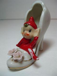 Vintage Christmas Pixie Elf .