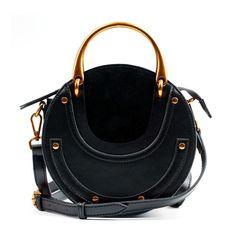 2e2088876e  78 - Shipping Worldwide - Eldora Genuine Leather Shoulder Bag Black 76381 Shoulder  Purse
