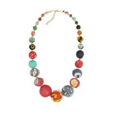 Kantha Graduated Bead Necklace - Gems that empower women.