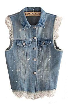 Mooncolour Womens Vintage Lace Trimmed Sleeveless Denim Vest Mooncolour http://www.amazon.com/dp/B00MOB3J7E/ref=cm_sw_r_pi_dp_gkjYvb124ZWQR
