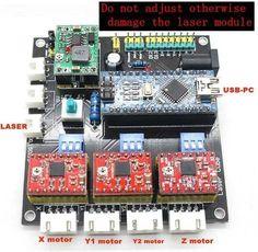 mini laser engraving machine laser CNC Dashboard control board USB CNC 3 axis stepper motor controller