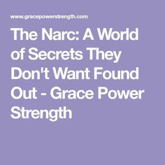 The Narc: A World of Secrets They Don't Want Found Out - Grace Power Strength