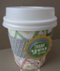 Stampin Up Starburst Sayings stamp set, mini coffee cup