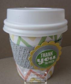 Stampin Up Starburst Sayings stamp set, mini coffee cup