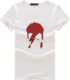 da5801c3d7bfc David Bowie New Fashion Print T shirt Men Brand 2016 Summer Funny Tshirt  Popular Singer White Tops Tees Men s Clothing
