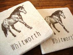 Personalized Nature and Animal Coasters - Single Coaster Personalized Coasters, Custom Coasters, Photo Coasters, Stone Coasters, Personalized Christmas Ornaments, Initials, Moose Art, Make It Yourself, Animal