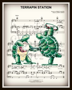 Grateful Dead, Terrapin Station, on Lyric /Music Song Sheet, Print by on Etsy Grateful Dead Lyrics, Grateful Dead Poster, Robert Hunter, Phil Lesh And Friends, Jerry Garcia Band, Bob Weir, Song Sheet, Dead And Company, Terrapin