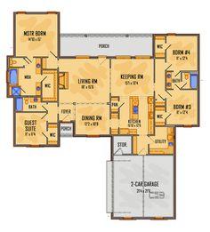 Colonial European House Plan 41515 Level One