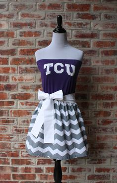 Texas Christian University TCU Horned Frogs Game Dress by Jill Be Nimble on Etsy.  Great TCU gameday dress or TCU gameday outfit!  Perfect for a TCU tailgate!