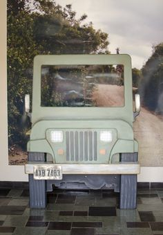 Photo booth idea at #Kilimanjaro #VBS #vacationbibleschool #vbs15 #photoboothvbs #jeep