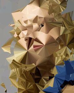 sergioalbiac:    Statistical beauty - study (selection from a series of 500 generative portraits. Beauty as an expression of randomness). Source image by Elena Kulikova.  www.sergioalbiac.com
