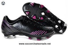 Low Price Bright Black-Pink-Black Adidas Predator LZ TRX FG Soccer Boots Store