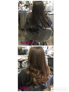 180 long layers. Products used Wella perfect me and thermal image. 8/9/16