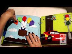 МК: оформление переплета развивающей книги - YouTube