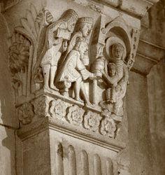 1120-46.Cathédrale Saint-Lazare. Autun (Saône-et-Loire).France. Bourgogne-Franche-Comté. Capital from Autun cathedral. Sculptor: Gislebertus -