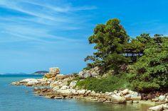 Meeraufnahme von Hong Chong - Nha Trang, Vietnam.
