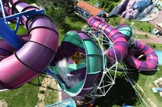 Totally awesome waterparks that you must visit! #travel #waterpark #waterslide