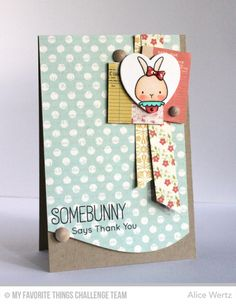 Somebunny Stamp Set, All My Love Die-namics, Ride the Wave Die-namics - Alice Wertz #mftstamps