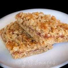 Raspberry Oat Bars. Bought some at the Farmer's Market and they were yummy so now I am on a quest to find a recipe to replicate it.