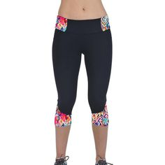 Feitong High Waist Moda Fitness Feminino Pants Printed Stretch Cropped Leggings Active Wear