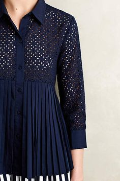 7b41bb5efcd5 Eyelet Empire Blouse - anthropologie.com Classic Outfits