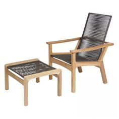 Barlow Tyrie Monterey Deep Seating Reclining Teak and Cord Armchair - Lounge, Club, and Garden Chairs - Outdoor Seating - Outdoor Furniture