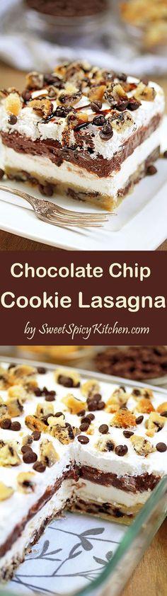 Chocolate Chip Cookie Lasagna